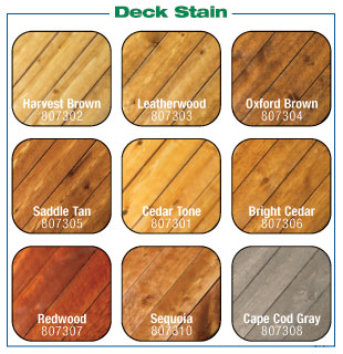 Fence & Deck Stain Colors & Transparencies